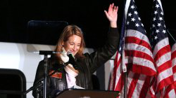 LITTLE FALLS, Nov. 2, 2020: Democratic Rep. Mikie Sherrill (D-11) held a rally, speaking to an audience mostly parked in their cars in Lot 60 at 澳门皇冠赌场大学.
